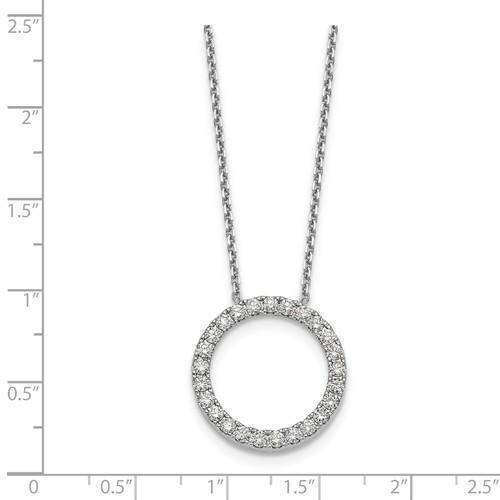 Diamond Circle Pendant 1.00 CTW - 14 kt Gold-Bel Viaggio Designs