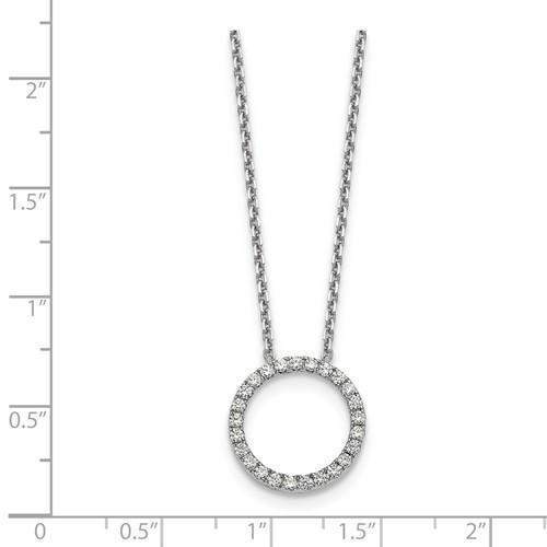 Diamond Circle Pendant .50 CTW - 14 kt Gold-Bel Viaggio Designs