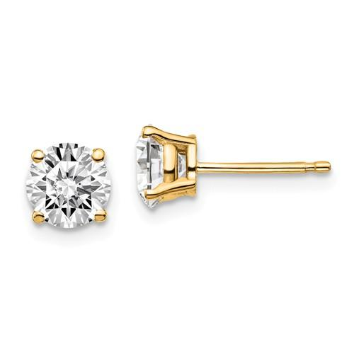 Diamond Earrings 1.00 CTW, Stud Earrings DEF Color-Bel Viaggio Designs