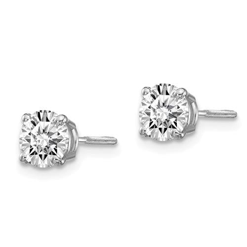 Diamond Earrings 1.50 CTW, Stud Earrings Screw Back DEF Color-Bel Viaggio Designs