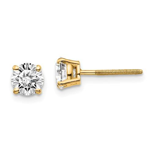 Diamond Earrings 3/4 CTW, Stud Earrings Screw Back DEF Color-Bel Viaggio Designs