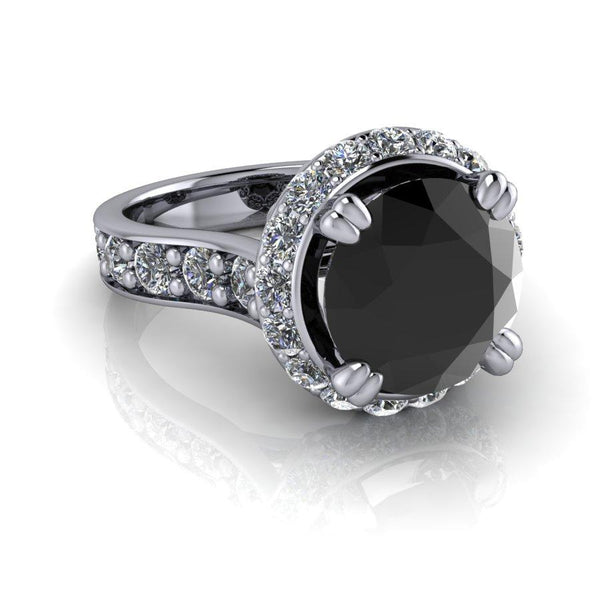Diamond Engagement Ring, Black Diamond Ring 4.21 ctw-Bel Viaggio Designs