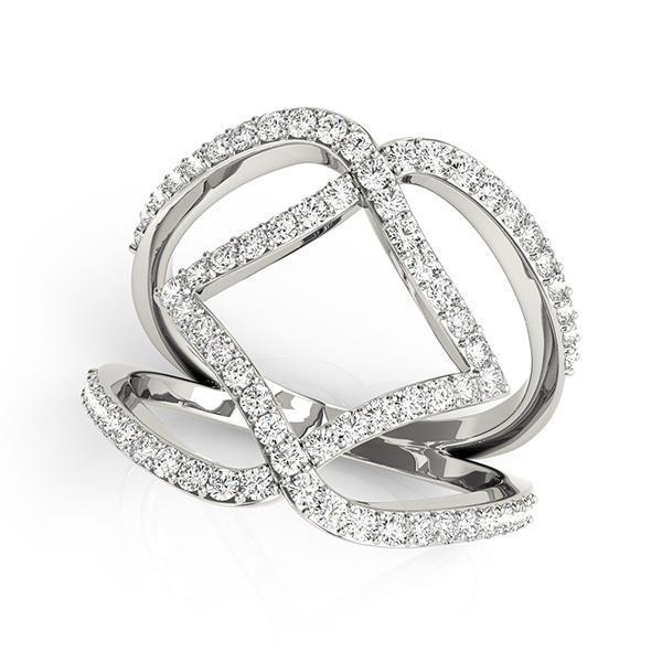 Diamond Fashion Ring, Negative Space Ring 3/4 ctw-BVD