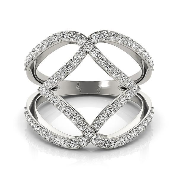 Diamond Fashion Ring, Negative Space Ring 3/4 ctw-Bel Viaggio Designs