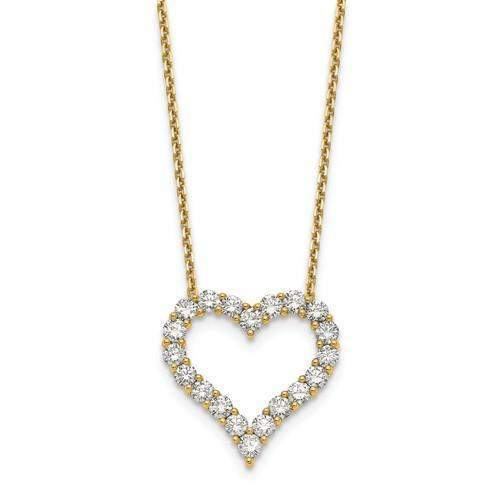 Diamond Heart Pendant 2.00 CTW - 14 kt Gold-Bel Viaggio Designs