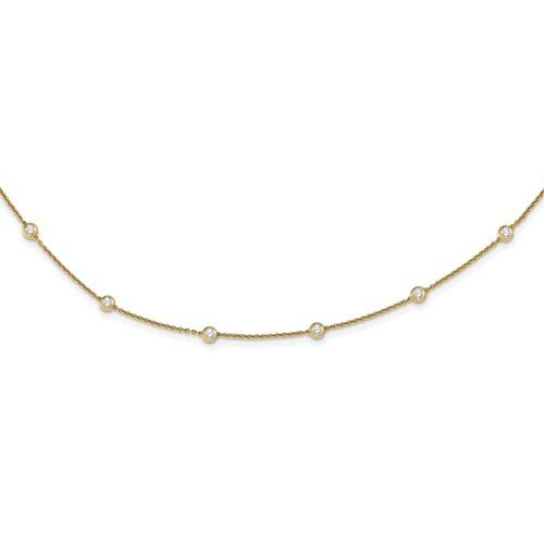 Lab Grown Diamond Station Necklace 1.30 CTW-Bel Viaggio Designs
