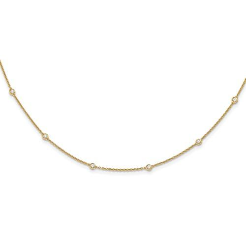 Lab Grown Diamond Station Necklace .46 CTW-Bel Viaggio Designs