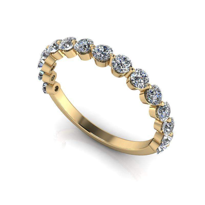 Lab Grown Diamond Wedding Band, Insieme Bridal Stackables® .87 CTW-Bel Viaggio Designs