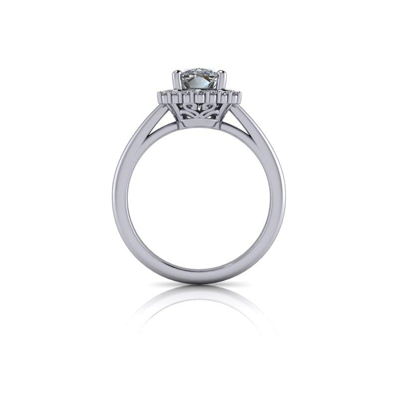 Elongated Cushion Cut Moissanite Bridal Set 2.06 ctw-Bel Viaggio Designs