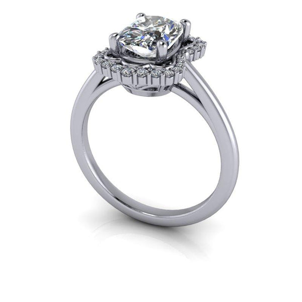 Elongated Cushion Cut Moissanite Engagement Ring, 1.76 ctw-Bel Viaggio Designs