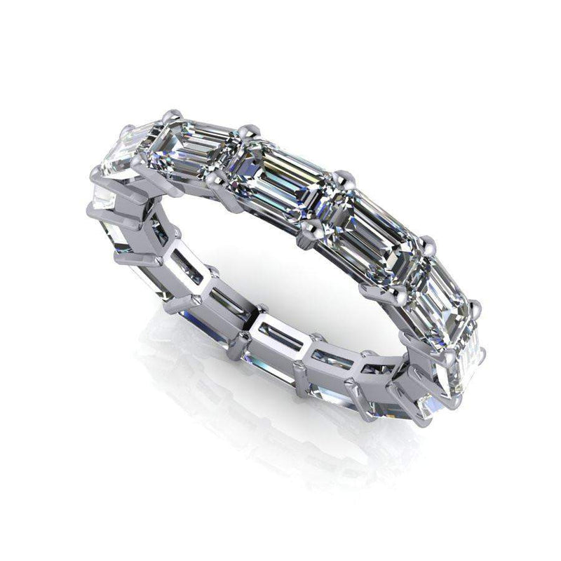 Eternity Band Emerald Cut Colorless Moissanite 4.20 CTW-Bel Viaggio Designs