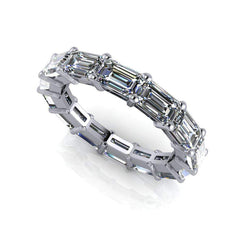 Eternity Band Emerald Cut - Celestial Premier Colorless Moissanite 4.20 CTW-Bel Viaggio Designs, LLC