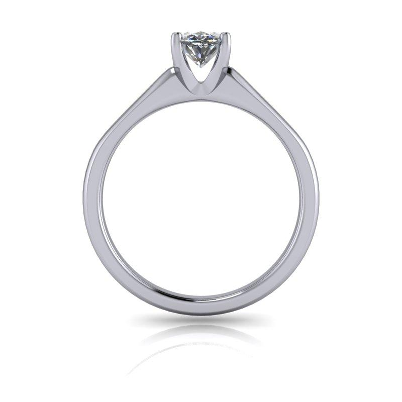 Colorless Moissanite Elongated Oval Engagement Ring 1.20 ctw-Bel Viaggio Designs