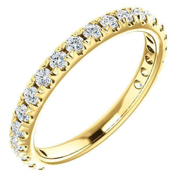 Lab Grown Diamond Eternity Band French Set 1.00 CTW-Bel Viaggio Designs