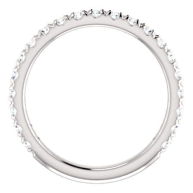 French Set Lab Grown Diamond Anniversary Band .63 ctw-Bel Viaggio Designs