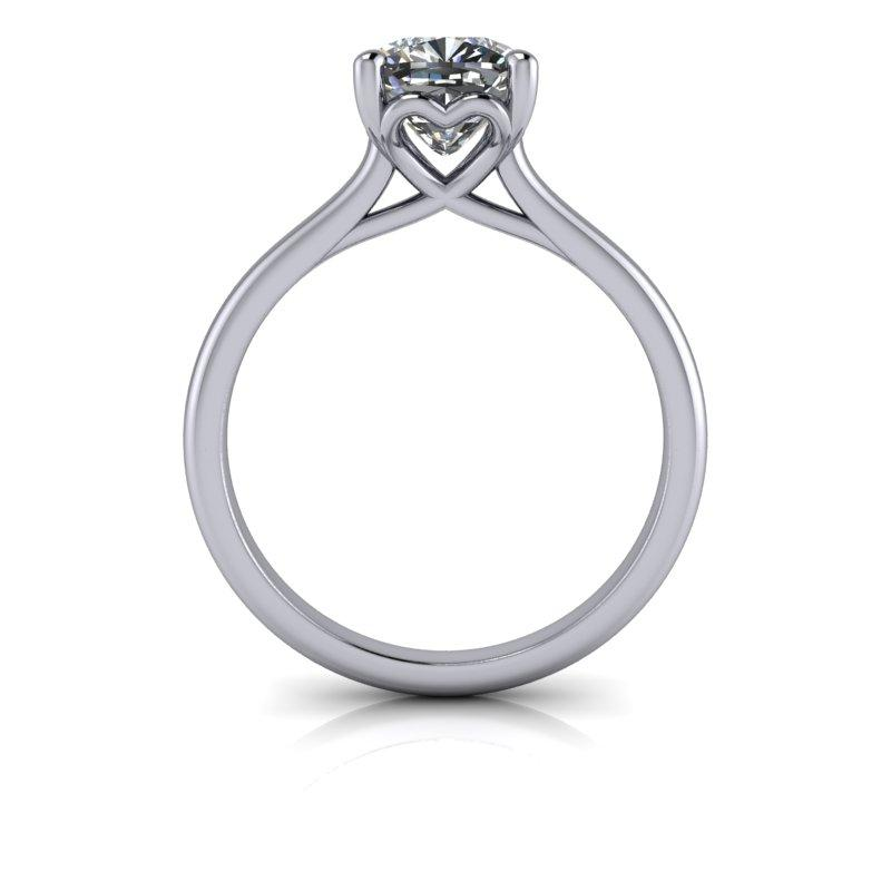 Hearts & Arrows Cushion Cut Forever One Moissanite Bridal Set 1.53 ctw-Bel Viaggio Designs