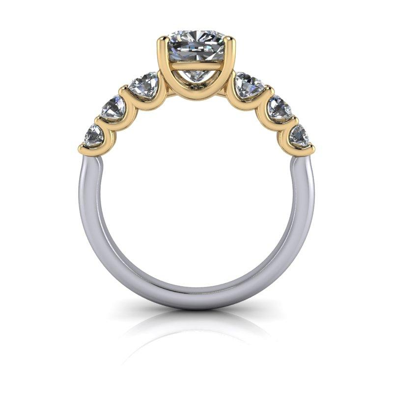 Hearts & Arrows Cushion Cut Forever One Moissanite Engagement Ring 1.97 ctw-Bel Viaggio Designs
