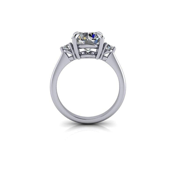 Hearts & Arrows Forever One Moissanite Engagement Ring 2.85 ctw-Bel Viaggio Designs