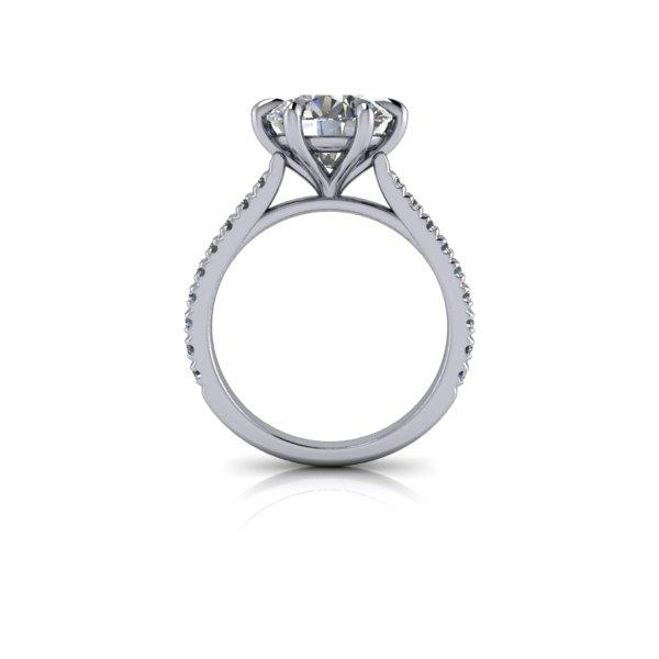 Hearts & Arrows Charles & Colvard Moissanite Engagement Ring 3.13 ctw-Bel Viaggio Designs