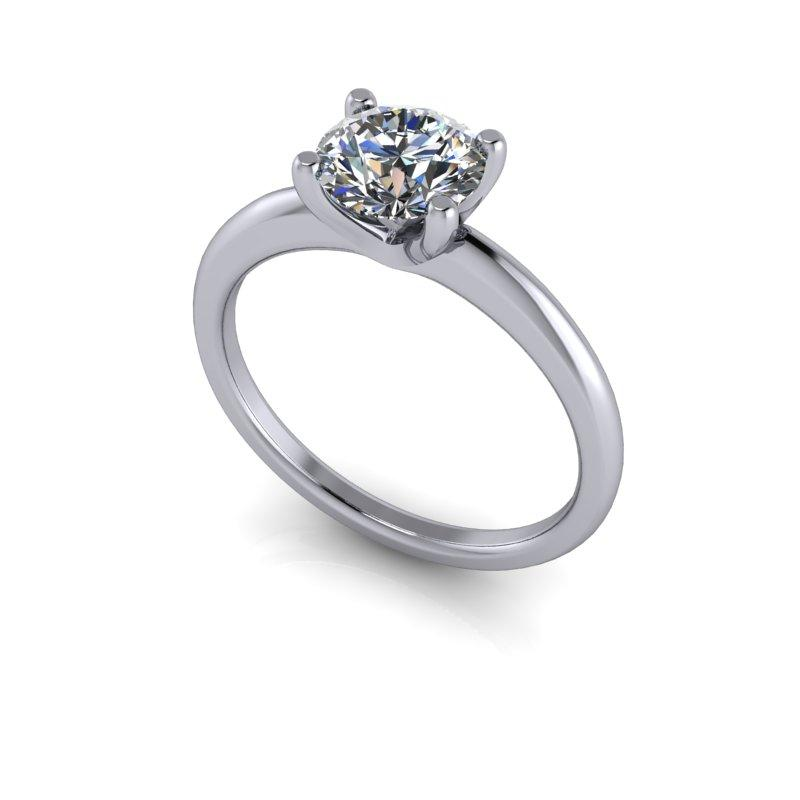 Hearts & Arrows Forever One Moissanite Engagement Ring/Bridal Set 1.31 ctw-Bel Viaggio Designs