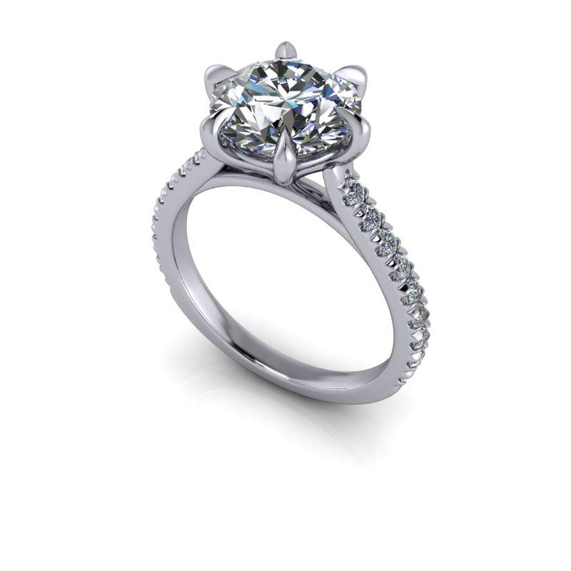 Hearts & Arrows Forever One Moissanite Engagement Ring/Bridal Set 3.53 ctw-Bel Viaggio Designs