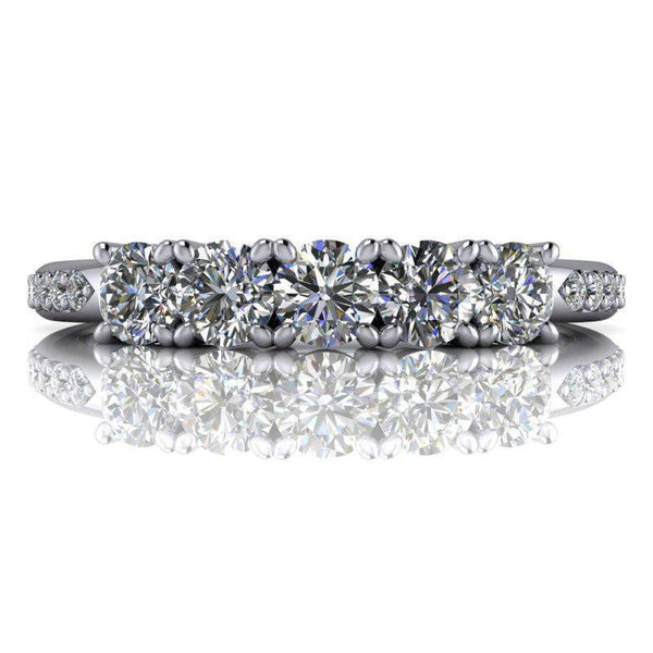 Insieme Bridal Stackables® Stacking Moissanite Wedding Band .72 CTW-BVD