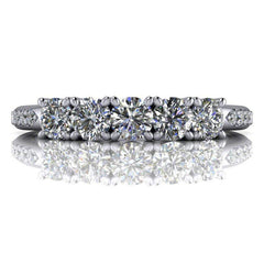 Insieme Bridal Stackables® Stacking Moissanite Wedding Band .72 CTW-Bel Viaggio Designs, LLC
