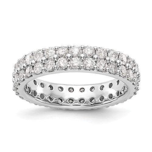 Lab Grown Diamond Double Row Eternity Ring 2 CTW - Diamond Eternity Band-Bel Viaggio Designs