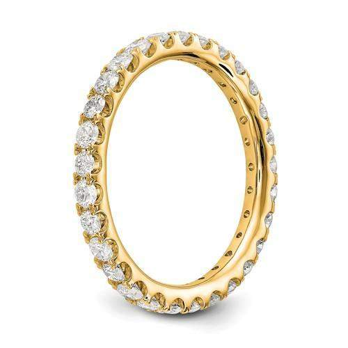 Lab Grown Diamond Eternity Ring 1 CTW - 14 kt Gold Diamond Eternity Ring-BVD