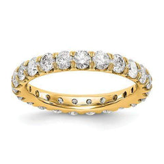 Lab Grown Diamond Eternity Ring 3.06 CTW - 14 kt Gold Diamond Eternity Ring-Bel Viaggio Designs, LLC