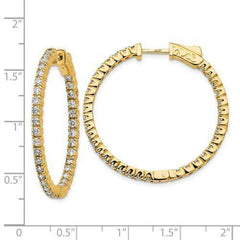 Lab Grown Diamond In and Out Hoop Earrings 1.96 CTW, VS SI1-BVD