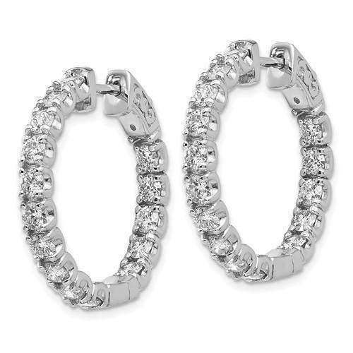 Lab Grown Diamond In and Out Hoop Earrings 2.79 CTW-Bel Viaggio Designs