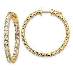 Lab Grown Diamond In and Out Hoop Earrings 4.84 CTW, VS SI1-Bel Viaggio Designs, LLC