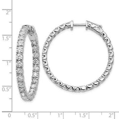 Lab Grown Diamond In and Out Hoop Earrings 4.84 CTW, VS SI1-BVD