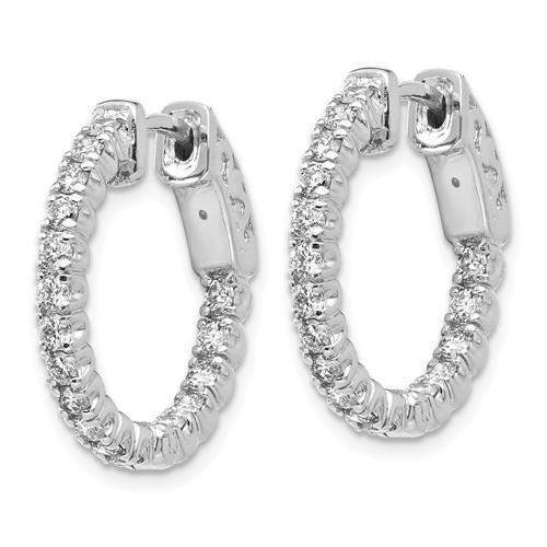 Lab Grown Diamond In and Out Hoop Earrings .95 CTW-Bel Viaggio Designs