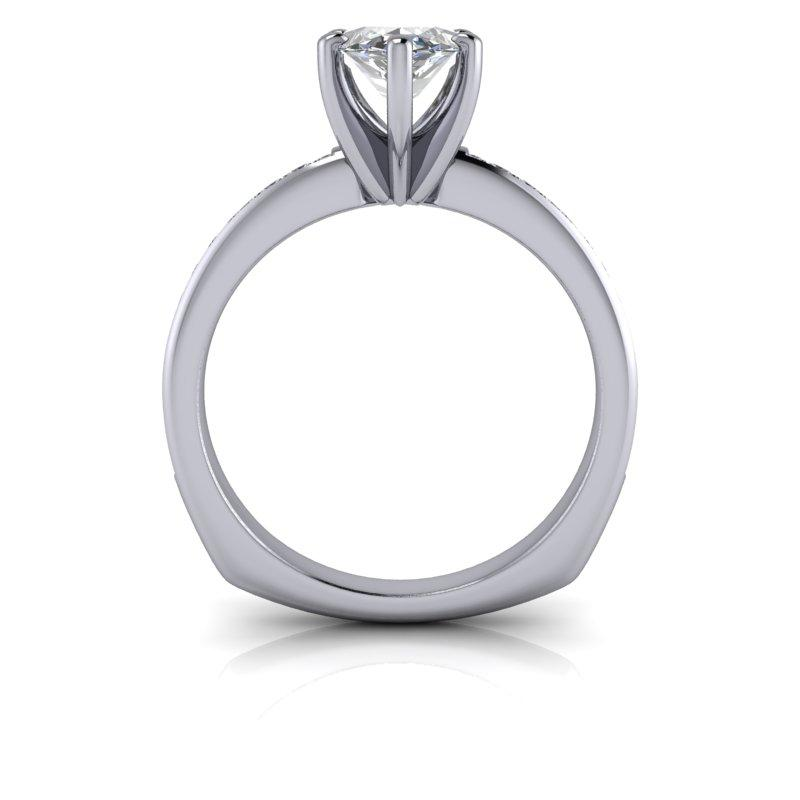 Marquise Cut Moissanite Engagement Ring 2.00 ctw-Bel Viaggio Designs