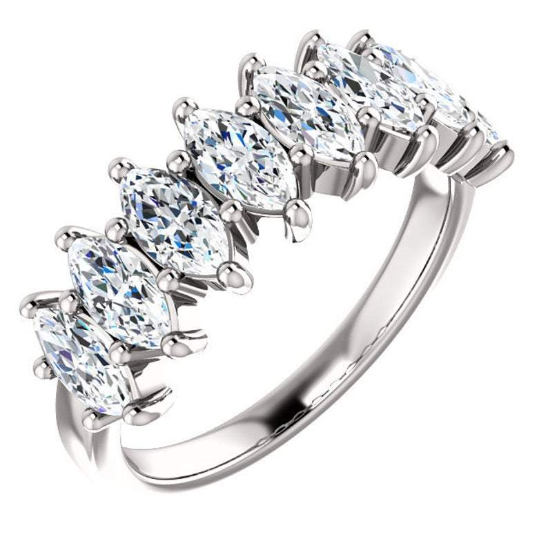 Marquise Forever One Moissanite Anniversary Ring 2.00 CTW-Bel Viaggio Designs