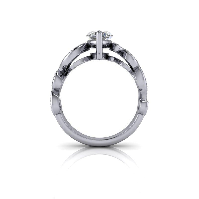 Marquise Moissanite Engagement Ring 2.05 ctw-Bel Viaggio Designs