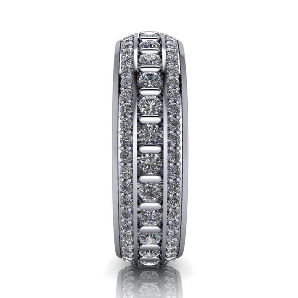 Men's Diamond Wedding Band 1.43 CTW-Men's Wedding Bands-Bel Viaggio Designs-BVD
