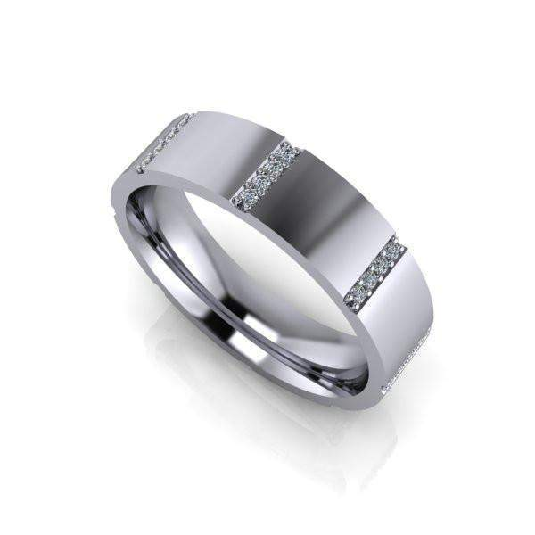 Men's Diamond Wedding Band .21 CTW-Bel Viaggio Designs