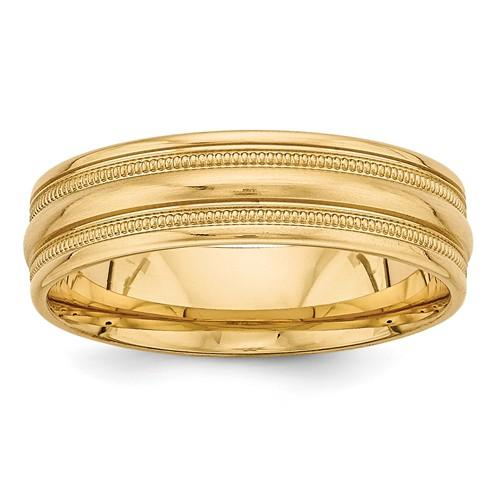 Men's Wedding Band 14k Gold Light Comfort Fit Band-BVD