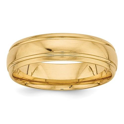 Men's Wedding Band 14k Gold Light Comfort Fit Grooved Band-Bel Viaggio Designs