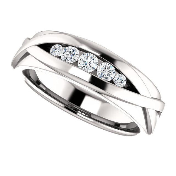 Men's Wedding Band, Diamond Ring, .33 ctw-Bel Viaggio Designs