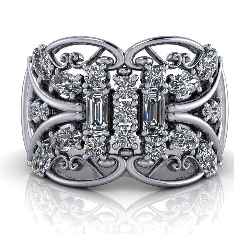 Moissanite Anniversary Ring, 1.50 CTW - Stacy K Opulence Limited Edition Collection-BVD