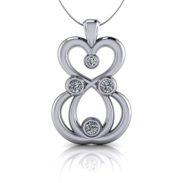 Moissanite Pendant Necklace, .54 CTW-Bel Viaggio Designs
