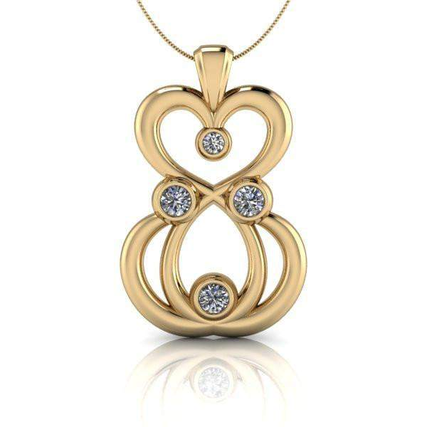 grande white necklace gold supernova moissanite pendant products