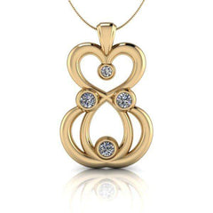 Moissanite Pendant Necklace, .54 CTW-necklace-Bel Viaggio Designs-Bel Viaggio®
