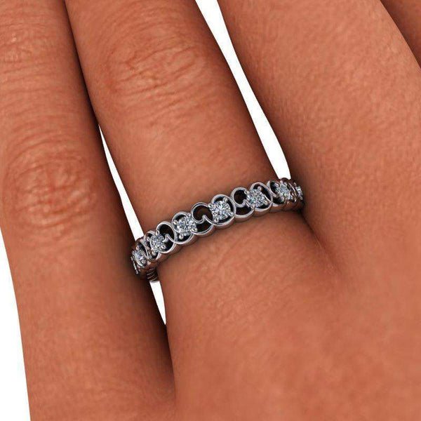 Moissanite Wedding Band, Insieme Bridal Stackables® Ring, .27 ctw-Bel Viaggio Designs