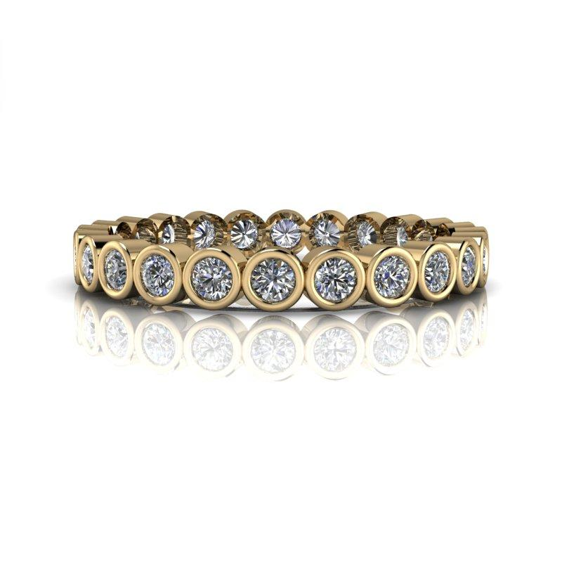 Moissanite Wedding Band, Insieme Bridal Stackables®.72 ctw-BVD