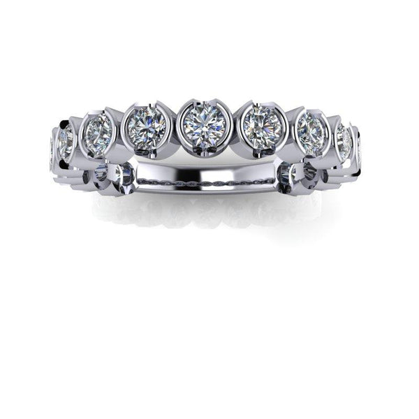 Moissanite Wedding Band, Insieme Bridal Stackables®.87 ctw-Bel Viaggio Designs